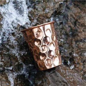 Diamond Copper Water Glass