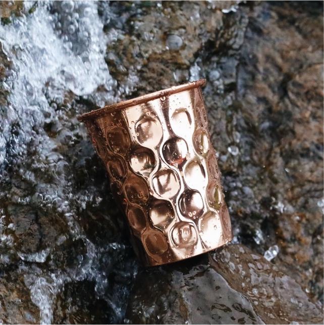 Diamond Copper Water Glass