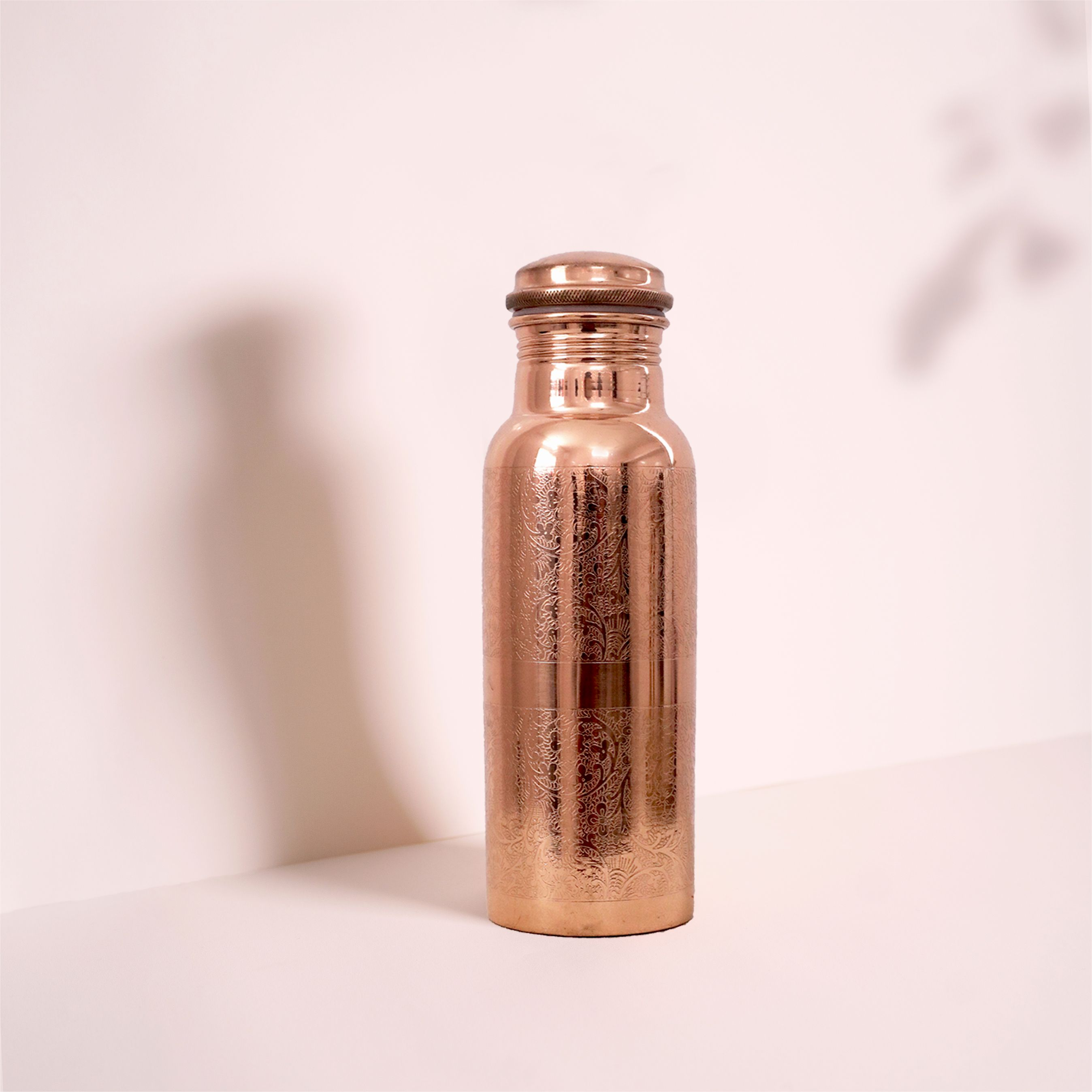 Engraved Copper water bottle 600ML