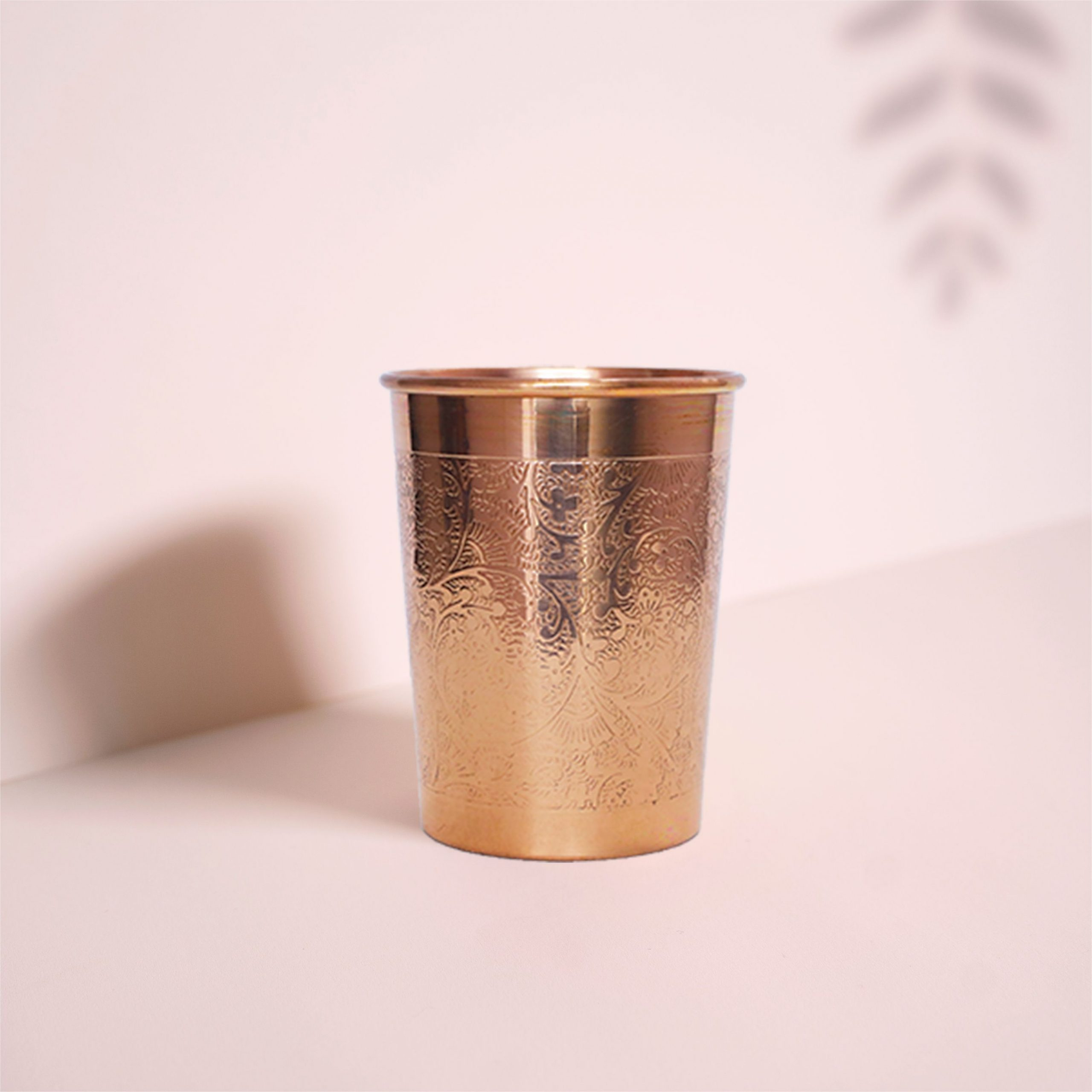 ENGRAVED COPPER WATER GLASS 300 ML