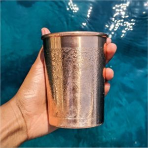 Engraved Copper Water Glass