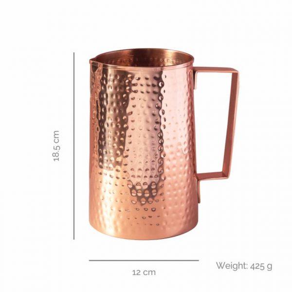 Copper Jugs Dimensions